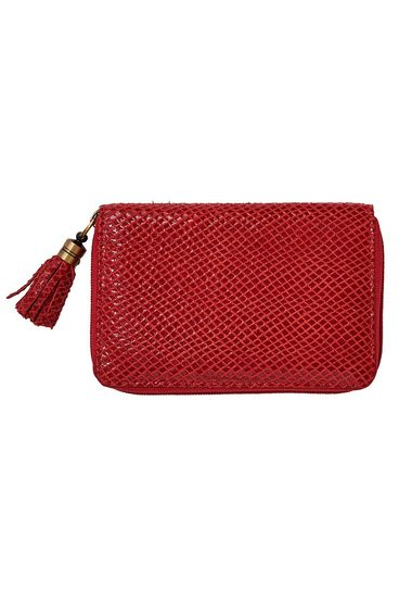 LUCA & MARC LEATHER WALLET W TSSL H, RED | Tuggl
