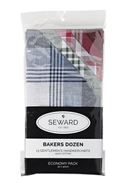 SEWARD Bakers Dozen Handkerchiefs Pack