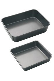 SMITH & NOBEL Professional Non Stick Bakeware Rectangle Roast Pan 2 Pack