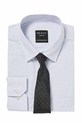 PELACO STRIPE SHIRT AND TIE P, WHITE, 38