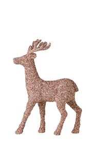 SOREN Winter Wonderland Standing Glitter Reindeer Rose Gold