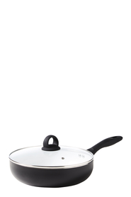 SMITH & NOBEL NORWICH WHITE CERAMIC NON STICK SAUTEPAN 26CM
