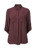 SIMPLY VERA VERA WANG Core Zip Pocket Blouse