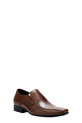 JM LTHR SLIP ON WITH SIDE DETAIL, TAN, 9
