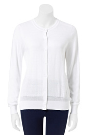 KHOKO SMART Cotton Blend Crew Cardigan