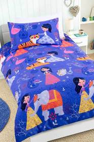 HAPPY KIDS Arabian Nights Glow in the Dark Quilt Cover Set DB