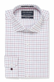 VAN HEUSEN RED AND BLUE CHECK SHIRT