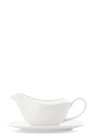 CASA DOMANI Pearlesque Gravy Boat And Saucer