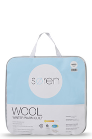 Soren 500gsm winter warm wool quilt qb