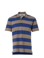 WEST CAPE Mens Classic Cotton Pique Stripe Polo
