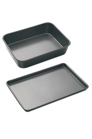 SMITH & NOBEL Professional Non Stick Bakeware Roast <(>&<)> Baking 2 Pack