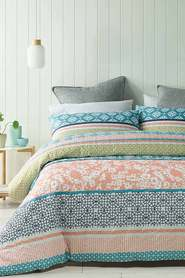PHASE 2 Hillier Quilted Quilt Cover Set Single Bed