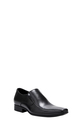 JM LTHR SLIP ON WITH SIDE DETA, BLACK, 8