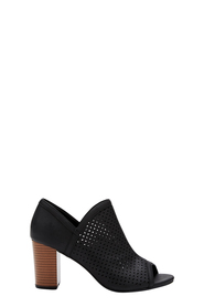 KHOKO Mia Peeptoe Boot With Perforated Front