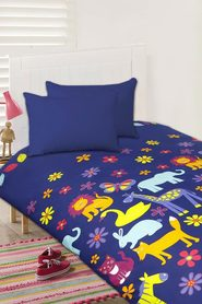 HAPPY KIDS Animal Silhouette Glow in the Dark Quilt Cover Set DB