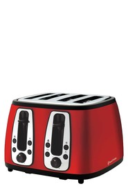 RUSSELL HOBBS Heritage 4 Slice Toaster Red
