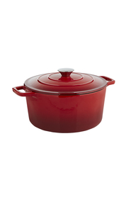 SMITH & NOBEL Traditions Cast Iron Casserole Red 5L