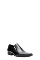 JULIUS M LEATHER SLIP ON CROSS, BLACK, 7