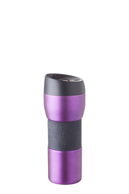 S+N STAINLESS STEEL DW TRAVEL FLASK PURP