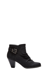 SAVANNAH Foster buckle trim mid heel boot