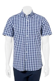 WEST CAPE CONTEMPORARY RELAXED WASH CHECK SHIRT