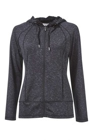 SIMPLY VERA VERA WANG NEP YARN HOODED ZIP THROUGH