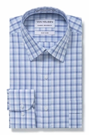 VAN HEUSEN NAVY AND BLUE CHECK SHIRT
