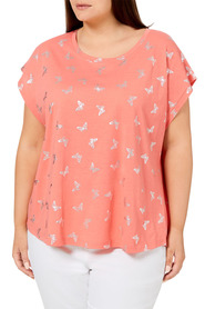 KHOKO PLUS Butterfly Printed Tee