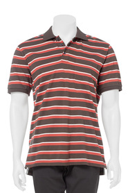 JC LANYON STRIPE JERSEY POLO