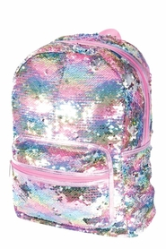 IS GIFT Reversible Sequin Backpack - Pearlescent