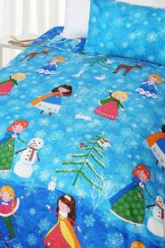 HAPPY KIDS Snow Princess Glow in the Dark Quilt Cover Set DB