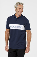 LAVER SPLICED COTTON POLO