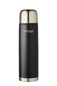 THERMOS THERMOCAFE STAINLESS STEEL VACUUM INSULATED SLIMLINE FLASK 1L MATTE BLACK