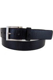 NIC MORRIS Leather Casual Brass Buckle Belt