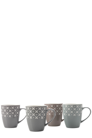 CASA DOMANI CROSSES 4 PIECE MUG SET 350ML