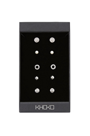KHOKO Circle And Stud Earring Set
