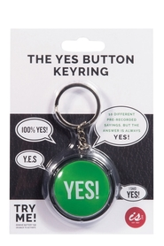 IS GIFT YES Button Keychain