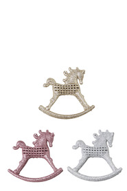 SOREN Winter Wonderland Rocking Horse Ornaments 3 Pack