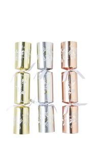 TOM SMITH Silver and Gold Holly Crackers 6 Pack