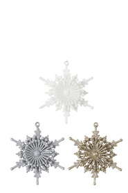 SOREN Winter Wonderland Snowflake Hanging Ornaments 4 Pack