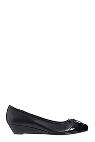 HUSH PUPPIES Prestin Toe Cap Leather Wedge