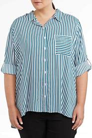 KHOKO PLUS Viscose Stripe Shirt