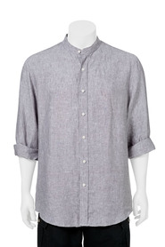 BRONSON Linen Collarless Long Sleeve Shirt