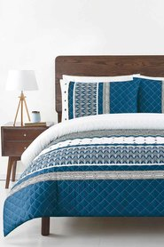 SOREN Riley Quilted Quilt Cover Set Queen Bed