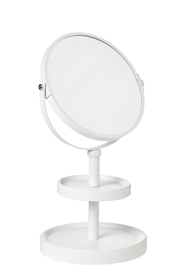 STORE & ORDER Loft Double Sided Mirror 2 Tier White