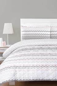 URBANE HOME Lexi Quilted Microfibre Quilt Cover SetSingle Bed