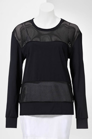 SIMPLY VERA VERA WANG Women'S Long Sleeve Sleeve Mesh Top