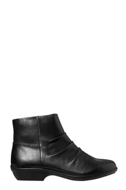 HUSH PUPPIES Proof Ruched Side Zip Leather Boot