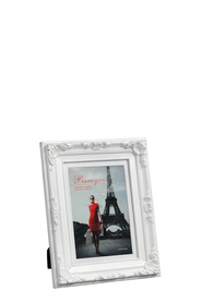 LIFESTYLE BRANDS Baroque 5X7inch White Photo Frame