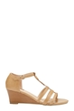 KHOKO T BAR WEDGE CAMEO, TAN, 7